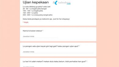 Photo of Link Tes Ujian Kepekaan Docs Google Form